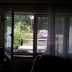 Wohnzimmer mit blick auf die Terasse